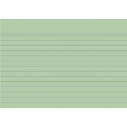Karteikarten liniert DIN A6 grün (Pckg. á 100 Stück)