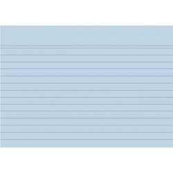 Karteikarten liniert DIN A6 blau (Pckg. á 100 Stück)