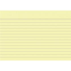 Karteikarten liniert DIN A6 gelb (Pckg. á 100 Stück)