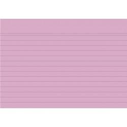 Karteikarten liniert DIN A6 rosa (Pckg. á 100 Stück)