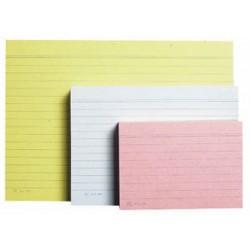 Karteikarten liniert DIN A5 190g/m² gelb (Pckg. á 100 Stück)
