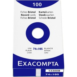 Karteikarten blanko DIN A7 Karton 205 g/m² weiß (Pckg. á 100 Stück)