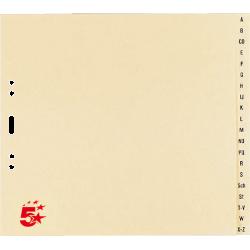 Register A-Z A4 Papier 210x230x4 24 Blatt chamois