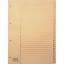 Register 1-31 A4 Tauenpapier RC 31 Blatt chamois