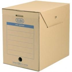 Archivbox Aktenbox Elba tric mit Klappe A4 236x333x308mm naturbraun 6 St.