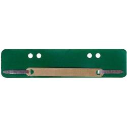 Heftstreifen Kunststoff A4 + A5 Metalldeckleiste grün 100St.