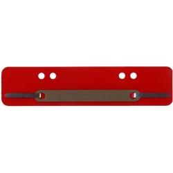 Heftstreifen Kunststoff A4 + A5 Metalldeckleiste rot 100 St.