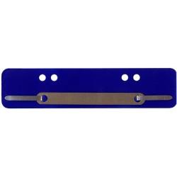 Heftstreifen Kunststoff A4 + A5 Metalldeckleiste blau 100 St.