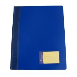 Schnellhefter PVC-Folie mit Innentasche DIN A4 blau / 1 Stück
