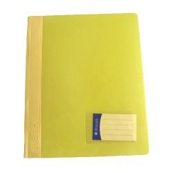 Schnellhefter PVC-Folie mit Innentasche DIN A4 gelb /  1 Stück