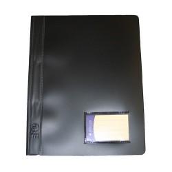 Schnellhefter PVC-Folie mit Innentasche DIN A4 schwarz / 1 Stück