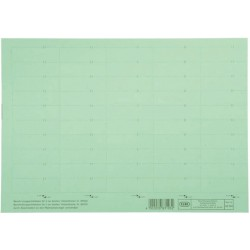 Beschriftungsschilder Elba f. Vertic 1 58 x 18 mm grün Bg.= 50 St.
