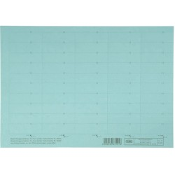 Beschriftungsschilder Elba f. Vertic 1 58 x 18 mm blau Bg.= 50 St.