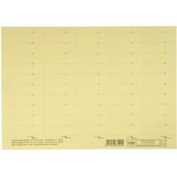 Beschriftungsschilder Elba f. Vertic 1 58 x 18 mm gelb Bg.= 50 St.