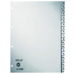 Register Leitz 4300 A-Z A4 Papier 300x225 20 Blatt grau (1 St.)