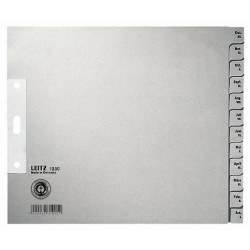 Register Leitz 1230 Dez-Jan A4 Papier 200x240 12 Blatt grau 1 St