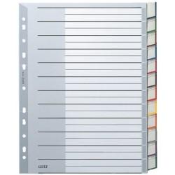Register Leitz 1274 Blanko A4 PP 12-tlg. grau Einsteckschild