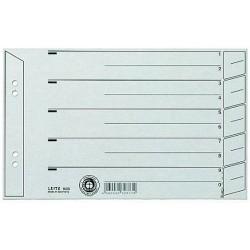 Trennblätter Leitz 1656 DIN A5 quer grau 200g/qm / 100 St.