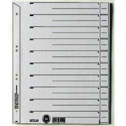 Trennblätter Leitz 1654 A4 grau Karton 200g/qm geöst 100 St.