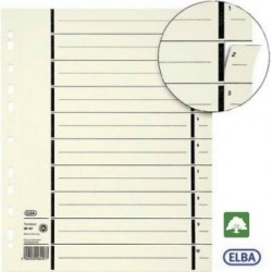 Trennblätter A4 Kraftkarton perforierte Taben beige chamois 100St