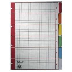 Register Leitz 4350 Blanko A4 Karton 6 Bl. grau Tabs farbig /1St