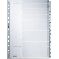 Register Leitz 4326 1-20 A4 Karton 20Bl. grau Tabs 2-stg / 1St.