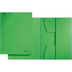 Jurismappe Leitz 3924 Karton 300 g/m² 3 Klappen A4 für 250 Blatt grün