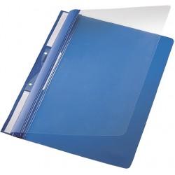 Schnellhefter Leitz 4190 Universal PVC transp. Deckel A4 blau