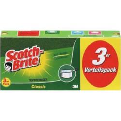 """Topfreiniger Extra Stark 9x7cm gelb/grün """"Scotch-Brite"""" 3er Pack"""