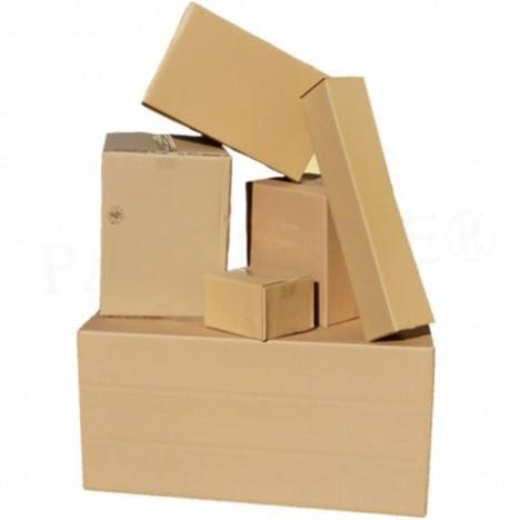 Versandkarton DHL Päckchen Faltkarton S selbstklebend 230x166x90mm braun A5+