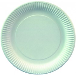 Pappteller rund weiß Ø 19 cm Pappe 330g/m² weiß (VE=100 St.)