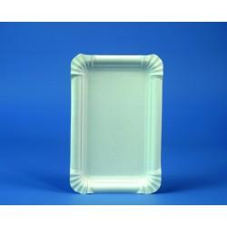 Pappteller rechteckig weiß 13x20cm Einweg VE=250 Stück