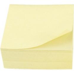Haftnotizen Haftnotizwürfel 76x76 mm gelb 400 Blatt / 1 Block
