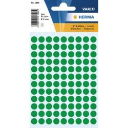 Etiketten Herma Klebepunkte 8mm Ø grün Schachtel á 540 Stück