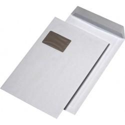 Papprückwand Versandtaschen C4 mit Fenster Weiß hk (Karton á 125 Stck.)