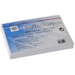 Karteikarten blanko DIN A5 190 g/m² weiß (Pckg. á 100 Stück)