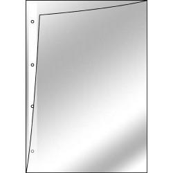 Prospekthülle A4 Lochseite und oben offen genarbt VE=100 Stück
