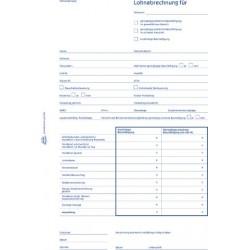 Lohnabrechnung Zweckform 506 A5 Mini-Job A4 1fach Blaupapier 50 Blatt