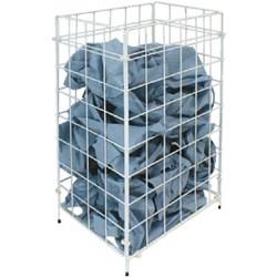 Abfalleimer Papierkorb Metall 330x255x640mm Draht weiß