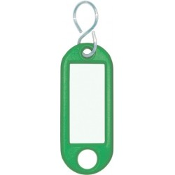 Schlüsselanhänger Kunststoff 52x21x3mm grün (10 Stück)