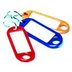 Schlüsselanhänger Kunststoff 52x21x3mm rot (10 Stück)