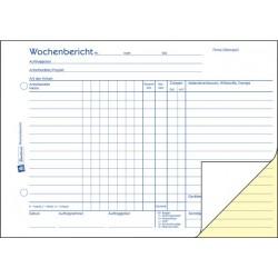 Rapportblock Wochenbericht Zweckform 1311 A5 2x50 Blatt