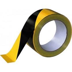 Klebeband mit Warnstreifen 50mmx66m Signalband schwarz/gelb 1 Ro.