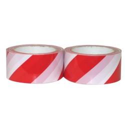Klebeband mit Warnstreifen 50mm x 66m rot/weiß