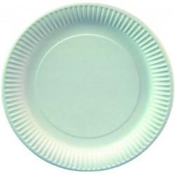 Pappteller rund weiß Ø 23 cm Pappe 230g/m² weiß (VE=100 St.)
