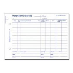Materialanforderungen Zweckform 1110 A5 quer 2x50 Blatt / 1 St.
