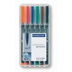 Projektionsschreiber OHP-Stift Lumocolor 313 perm S 0,4mm 6er-Etui