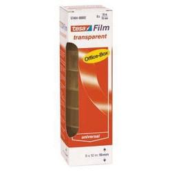 Klebefilm Tesa 12mm x 10m transparent PP Office-Box 12 Rollen