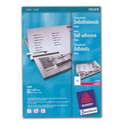 Kopierfolie + Laserfolie Zweckform 3482 A4 transp. sk Pckg=25Bl.