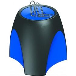 Briefklammerspender HAN DELTA magnetisch rund schwarz/blau